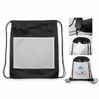 Obrázek produktu SANCHO - polyesterový stahovací batoh, 210D, černá