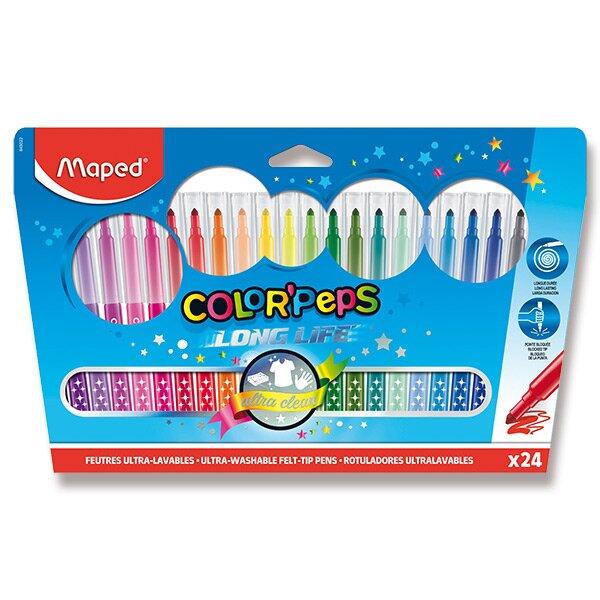 Dětské fixy Maped Color'Peps Long Life 24 barev