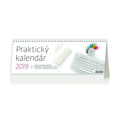 Obrázok produktu Praktický kalendár 2019 - stolový bezobrázkový kalendár