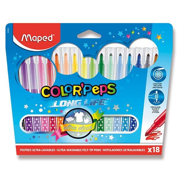 Dětské fixy Maped Color'Peps Long Life 18 barev