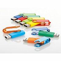 USB FLASH MIX - kovový USB FLASH disk 8GB s plastovým tělem, rozhraní 2.0
