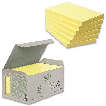 Obrázek produktu Samolepicí recyklované bločky 3M Post-it 655 - 76 x 127 mm, 6 x 100 listů