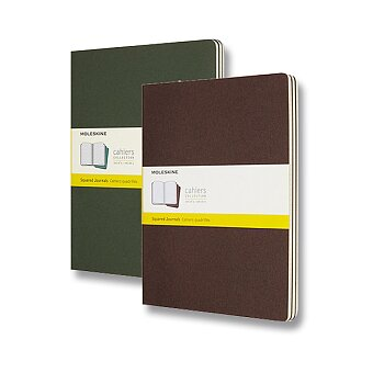 Obrázek produktu Notes Moleskine Cahier - tvrdé desky - XL, čtverečkovaný, 3ks, výběr barev