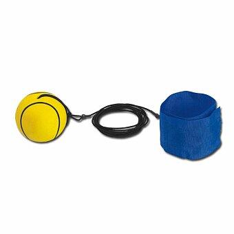 Obrázek produktu BALL - plastový bumerangový míček s textilním náramkem, žlutá
