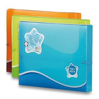 Obrázek produktu Box na dokumenty Poly Rock - A4 - oranžový