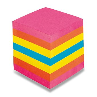 Obrázek produktu Poznámkový bloček Notes barevný - 9 x 9 x 9 cm