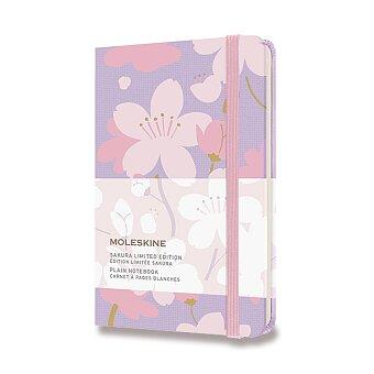 Obrázek produktu Zápisník Moleskine Sakura - tvrdé desky - S, čistý, růžový