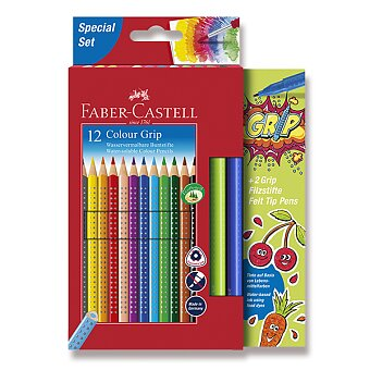 Obrázek produktu Pastelky Faber-Castell Grip 2001 - 12 barev + 2 fixy