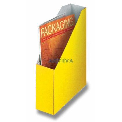 Obrázek produktu HIT Office - kartonový stojan na katalogy - 80 mm, žlutý