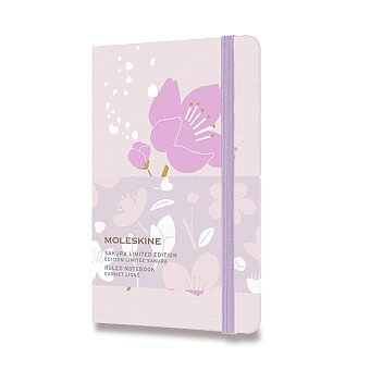 Obrázek produktu Zápisník Moleskine Sakura - tvrdé desky - S, linkovaný, růžový