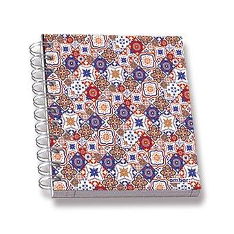 Obrázek produktu Kroužkový blok Ambar Lusa - A6, linkovaný, 120 listů