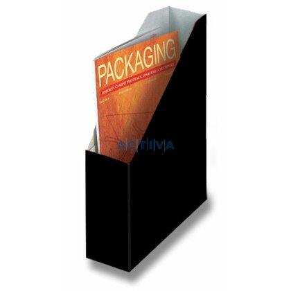 Obrázek produktu HIT Office - kartonový stojan na katalogy  - 80 mm, černý