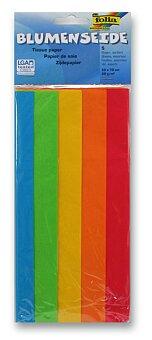 Obrázek produktu Hedvábný papír Folia - 5 listů, mix barev
