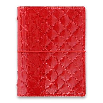 Obrázek produktu Kapesní diář Filofax Domino Luxe A7 - červený