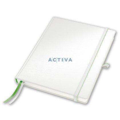 Obrázok produktu Leitz Complete - prémiový zápisník - linajkový, 80 listov, A5 (147 x 20 x 212 mm), biely