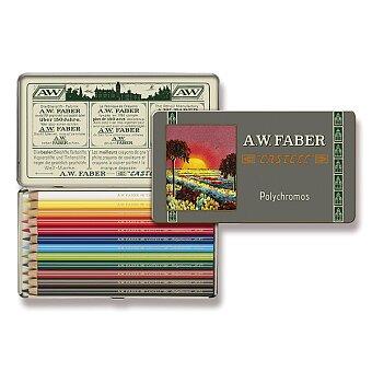 Obrázek produktu Pastelky Faber-Castell Polychromos 111 Years - plechová krabička, 12 barev