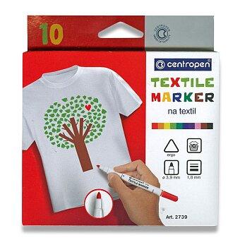 Obrázek produktu Popisovač Centropen 2739 na textil - 10 barev