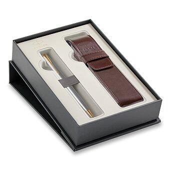 Obrázek produktu Parker Sonnet Stainless Steel GT - kuličková tužka, dárková sada s pouzdrem