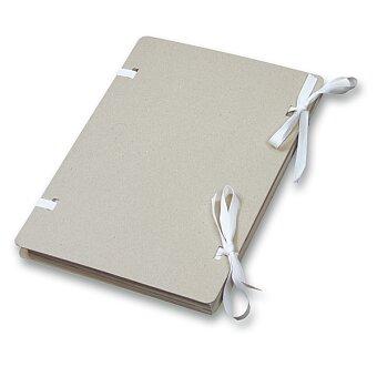 Obrázek produktu Kartonové desky s tkanicí Emba Nature - A4, přírodní
