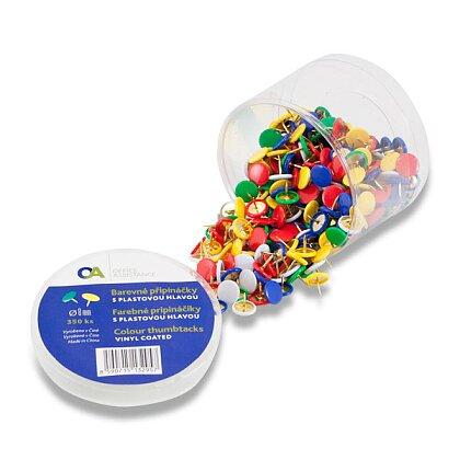 Obrázek produktu OA - napínáčky - průměr hlavy 8 mm, 350 ks, barevné