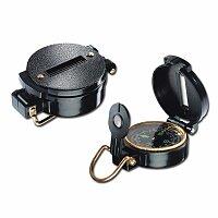 ZIKMUND - kovový kompas v plastovém plášti, černá