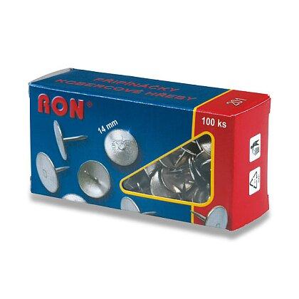 Obrázek produktu RON č. 201 - kobercové napínáčky, průměr hlavy 14 mm, 100 ks