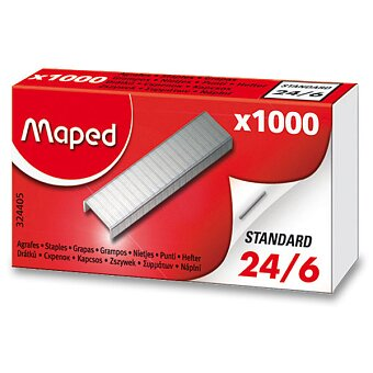 Obrázek produktu Drátky do sešívačky Maped 24/6 - 1000 ks, na 20 listů