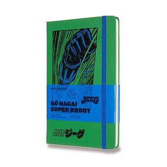 Obrázek produktu Zápisník Moleskine Go Nagai - tvrdé desky - L, čistý, zelený