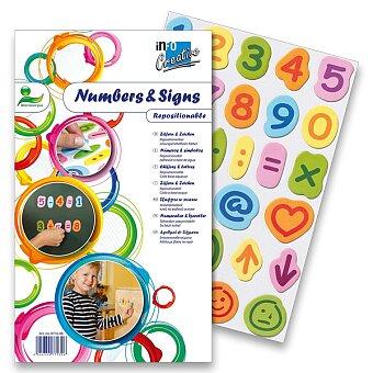Obrázek produktu Samolepicí číslice a znaky - 30 x 15 kusů