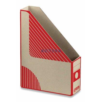 Obrázek produktu EMBA Magazin Box - kartonový stojan na katalogy - 75 mm, červený
