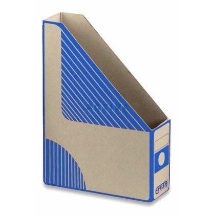 Obrázek produktu EMBA Magazin Box - kartonový stojan na katalogy - 75 mm, modrý