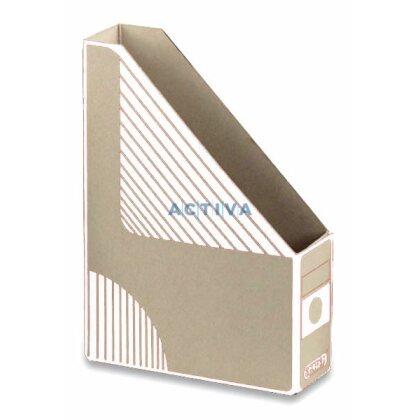 Obrázek produktu EMBA Magazin Box - kartonový stojan na katalogy - 75 mm, bílý