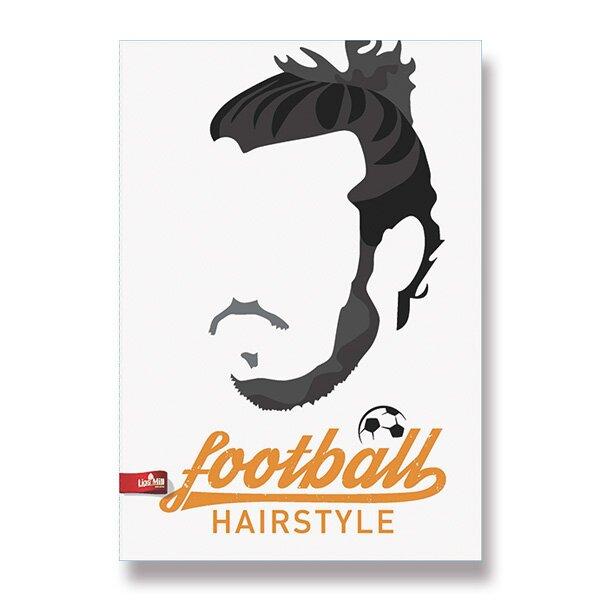 Školní sešit Football Hairstyles A4, linkovaný, 40 listů, mix motivů