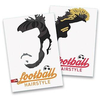 Obrázek produktu Školní sešit Football Hairstyles - A4, linkovaný, 40 listů, mix motivů