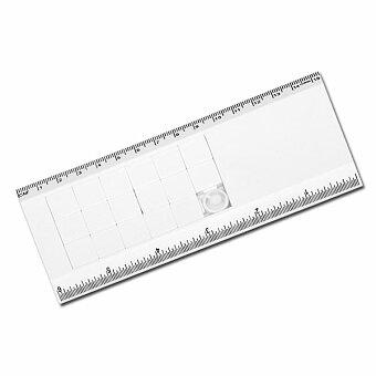 Obrázek produktu TRAVIS - plastový posuvný hlavolam s pravítkem, 15 cm, bílá