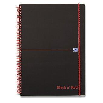 Obrázek produktu Kroužkový blok Oxford Black n' Red - A4, čtverečkovaný, 70 listů, plastové desky