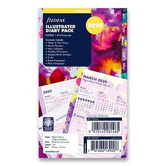 Obrázek produktu Květy 2020 - týdenní náplň osobních diářů Filofax