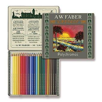 Obrázek produktu Pastelky Faber-Castell Polychromos 111 Years - plechová krabička, 24 barev