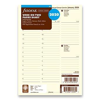 Obrázek produktu Týdenní kalendář 2020, 5 jazyků - náplň A5 diářů Filofax