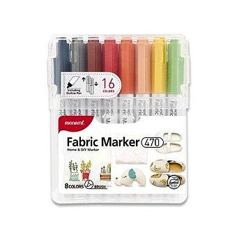 Fixy na textil Monami 470, 16 barev