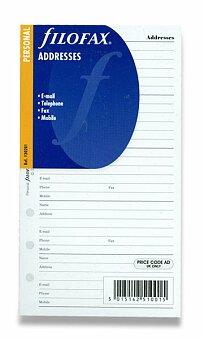 Obrázek produktu Adresář - náplň k osobním diářům Filofax