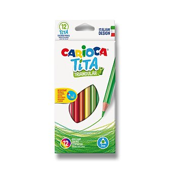 Obrázek produktu Pastelky Carioca Tita Triangular - 12 barev