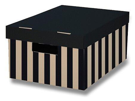 Obrázek produktu 2 úložné krabice HIT Office s nosností 5 kg - 2 ks, 370 x 180 x 280 mm