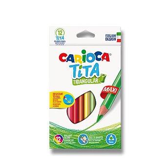 Obrázek produktu Pastelky Carioca Tita Triangular Maxi - 12 barev