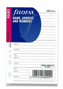 Obrázek produktu Adresář - náplně kapesních diářů Filofax
