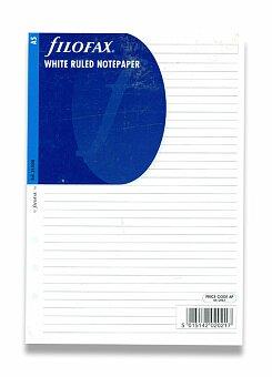 Obrázek produktu Poznámkový papír, linkovaný - náplň A5 k diářům Filofax