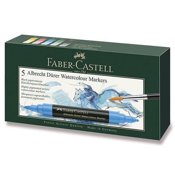 Akvarelové popisovače Faber-Castell Albrecht Dürer 5 barev