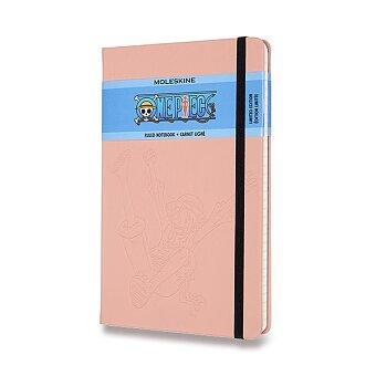 Obrázek produktu Zápisník Moleskine One piece - tvrdé desky - L, linkovaný, růžový