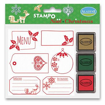 Razítka Aladine Stampo Christmas - Vánoční visačky
