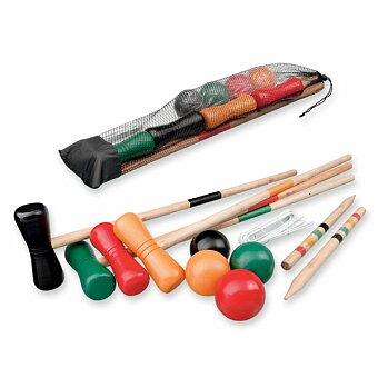 Obrázek produktu KROKET - sada na kroket, 4x hůl, 4x míč, 10x branka, 2x kolík